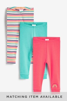 3 Pack Bright Jersey Leggings (0-18mths)