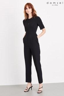 אוברול ארוך של Damsel In A Dress דגם Nina City Suit בשחור
