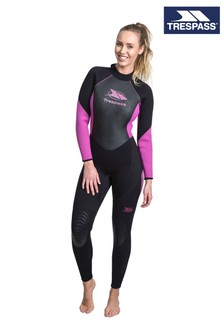 Trespass Black Aquaria - Female 5mm Full Wetsuit