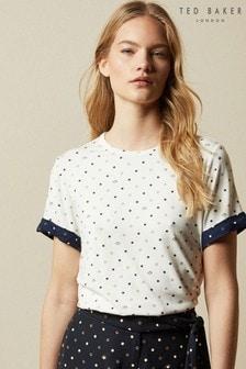 חולצתטי עם נקודותJoannah בצבע שמנת שלTed Baker