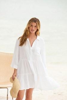 Textured Shirt Dress