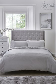 Serene Amalfi Pin Tuck Duvet Cover and Pillowcase Set