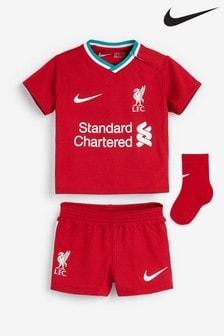 Nike Liverpool Football Club 2021 Heimspiel-Set für Kleinkinder