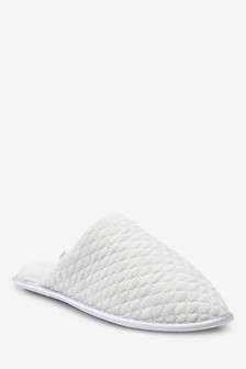 Quilted Mule Slippers