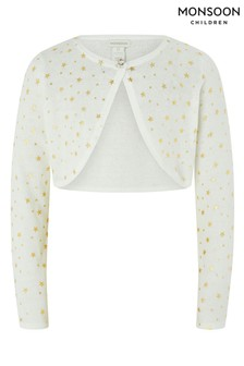 Monsoon Metallic Ivory Star Cardigan
