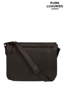 Pure Luxuries London Terence Leather Messenger Bag