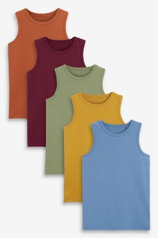 5 Pack Organic Vests (1.5-16yrs)