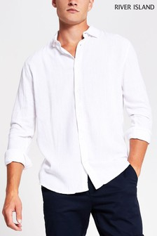 River Island White Linen Shirt