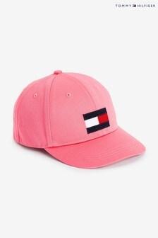 Tommy Hilfiger ピンク ビッグフラッグ キャップ