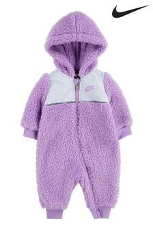 Nike Baby Lilac Sherpa Fleece All-In-One
