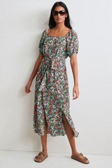 Printed Square Neck Dress