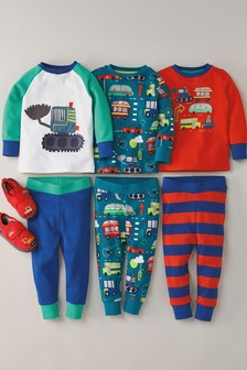 3 Pack Vehicle Snuggle Pyjamas (9mths-8yrs)