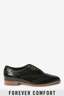 Signature Forever Comfort® Leather Square Toe Lace-Up Brogues