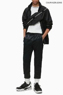 Calvin Klein Jogginghosen mit Intarsien-Logo, schwarz