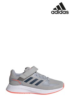 adidas Grey/Black Run Falcon 2 Youth Trainers