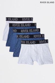 حزمة من خمسة بوكسراتأزرق داكن منRiver Island