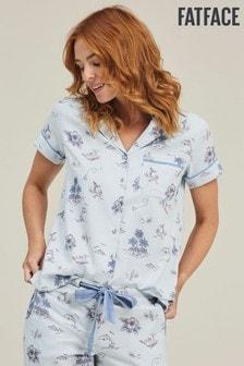 Синяя ночная рубашка с морским принтом FatFace