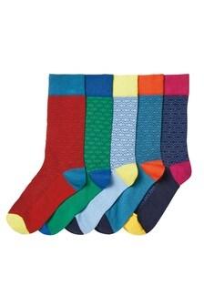 Geo Pattern Socks Five Pack