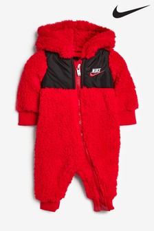 Nike Baby Red Sherpa Fleece All-In-One