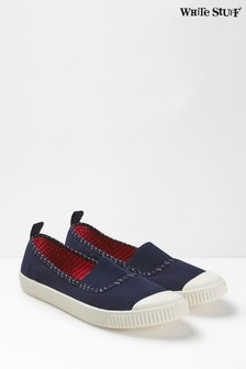 White Stuff Erin Schuhe aus elastischem Material, Marineblau