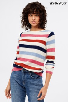 White Stuff Cream Tide Stripe Jumper