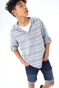 Long Sleeve Striped Overhead Shirt (3-16yrs)