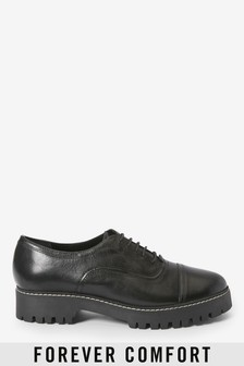 Leather Forever Comfort® Chunky Sole Lace-Ups
