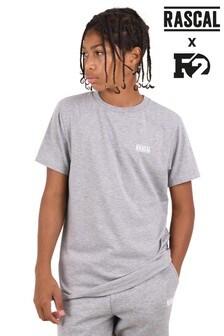 Серая базовая меланжевая футболка Rascal