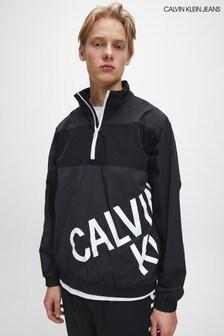 سترة رياضية سوداء بشعار قابلة للتمدد منCalvin Klein Jeans
