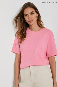 Mint Velvet Pink Boyfriend T-Shirt
