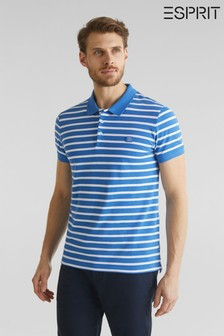 Esprit Blue Stripe Poloshirt