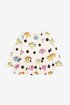 Little Miss Mr Men Licence Peplum T-Shirt (3mths-7yrs)