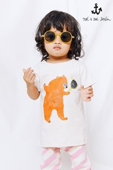 Noé & Zoë Cream Bear T-Shirt