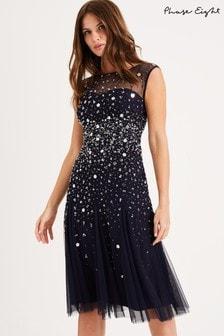 שמלה עם פאייטים של Phase Eight דגם Lena בכחול