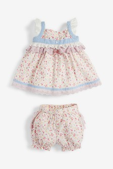 2 Piece Blouse And Bloomer Woven Set (0mths-2yrs)