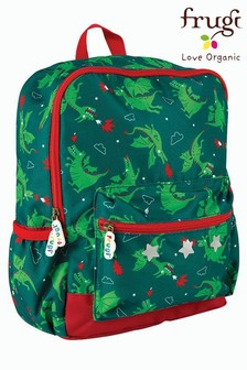 Frugi Green Recycled Dragon Print Backpack