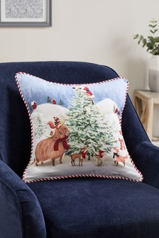 Santa & Friends Christmas Cushion