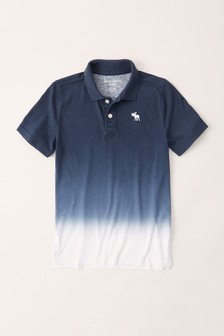 Abercrombie & Fitch Navy Ombre Poloshirt