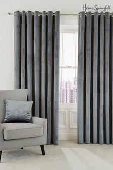 Helena Springfield Grey Escala Eyelet Curtains