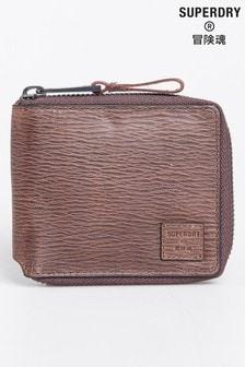 Superdry Brown Benson Zip Wallet