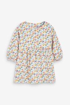 שמלת ג'רזי עם כפתורים (0 חודשים עד גיל 2)