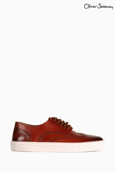Oliver Sweeney Burwell Hand Antiqued Brogue Trainers