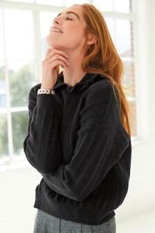 Collar Detail Knitted Jumper