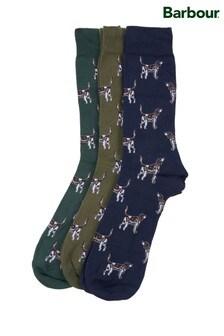 Barbour® 指標犬圖案襪子禮盒