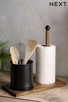 Bronx Kitchen Roll Holder And Utensil Pot