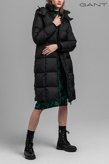 GANT Black Padded Down Long Coat