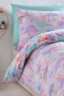 Dinosaurs Forever Reversible Duvet Cover and Pillowcase Set