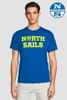 North Sails Kurzärmeliges T-Shirt, Blau