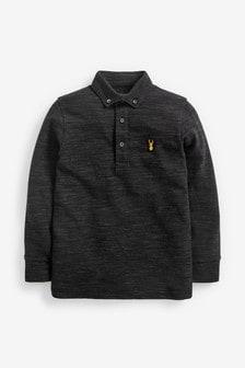 Long Sleeve Pique Poloshirt (3-16yrs)