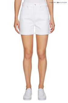 Tommy Hilfiger White Rome Denim Shorts